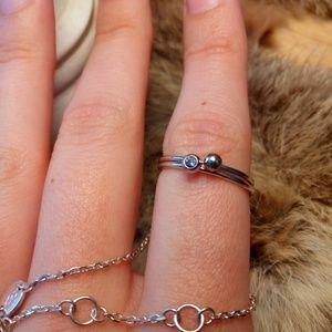 Jewelry - Sterling silver ring bracelet